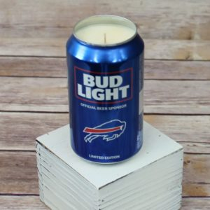 Bud Light Bills Beer Can Soy Candle