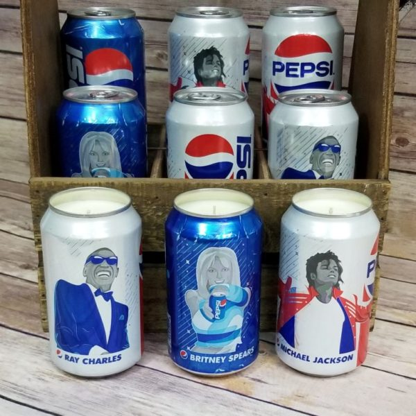 Pepsi Soda Can Soy Candle