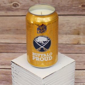 Labatt Blue Light Sabres Beer Can Soy Candle