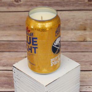 Labatt Blue Light Sabres Beer Can Soy Candle