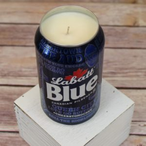 Labatt Blue Sabres Beer Can Soy Candle