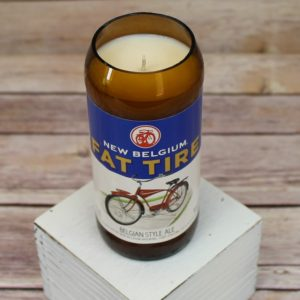 Fat Tire Beer Bottle Soy Candle