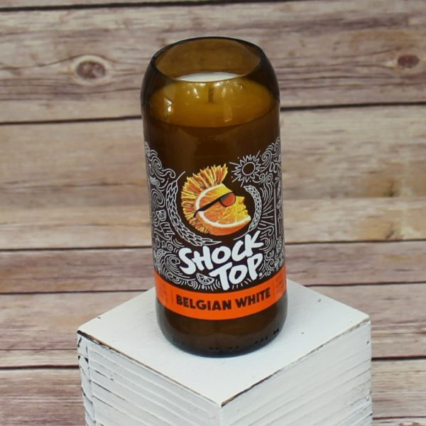 Shock Top Beer Bottle Soy Candle