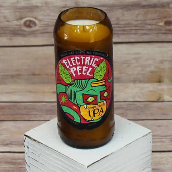 Magic Hat Peel Beer Bottle Soy Candle