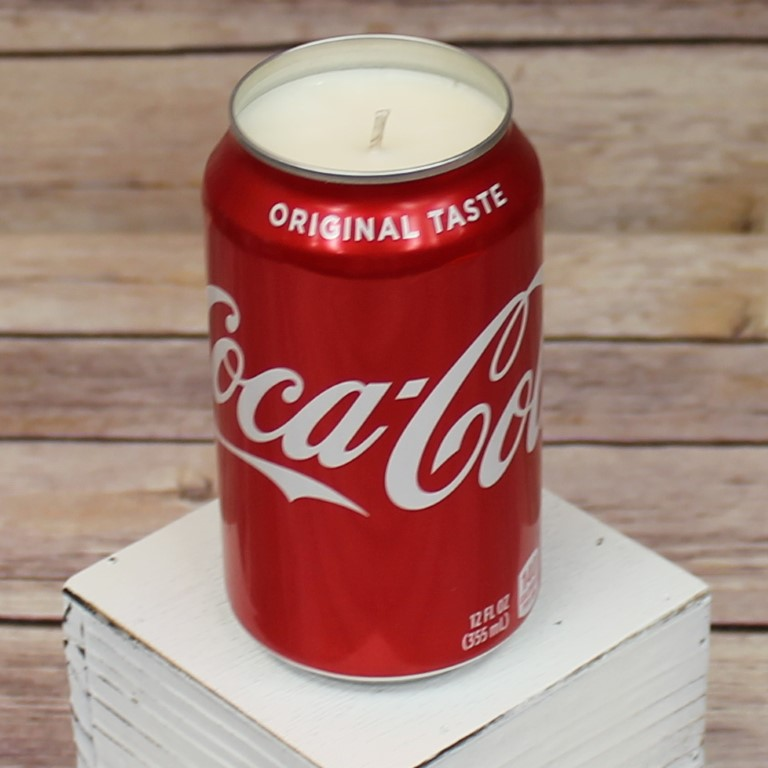 6oz Collectable Embossed Coke Glass Coke Cola Scented Candle SMELLS LIKE COKE