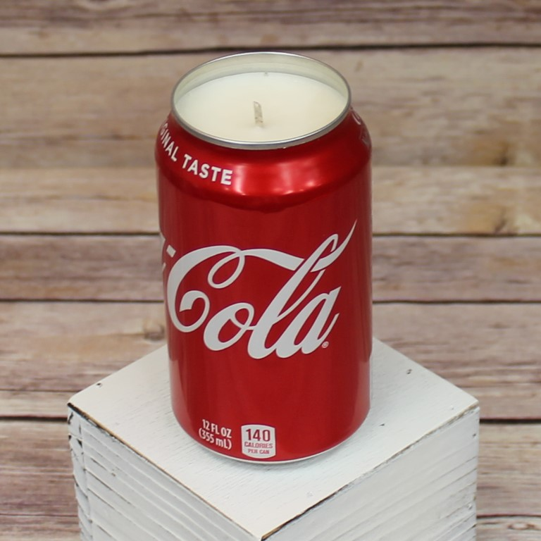 Handmade Recycled 12oz COCA COLA Scented Soda Can Candle Coke