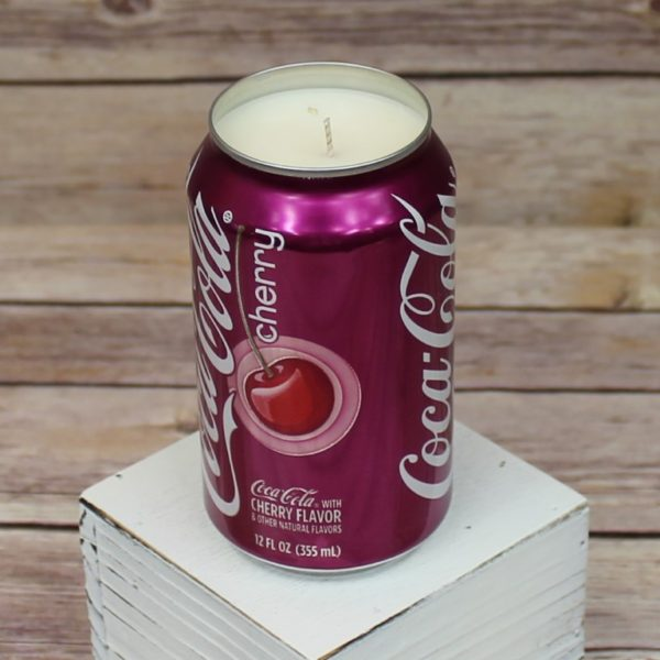 Cherry Coke Soda Can Soy Candle