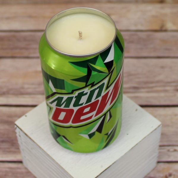 Mountain Dew Soda Can Soy Candle