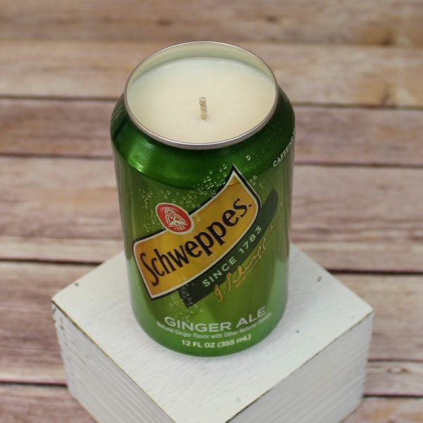 Schweppes Soda Can Soy Candle