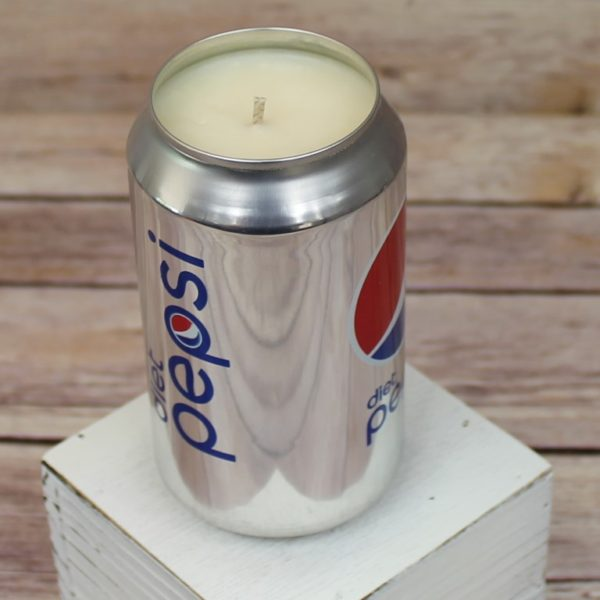 Diet Pepsi Soda Can Candle