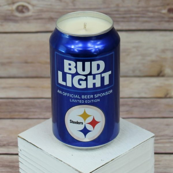 Steelers Beer Candle