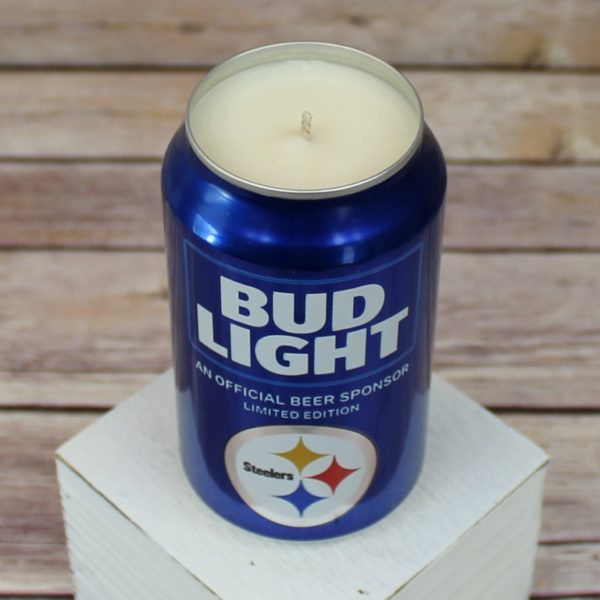 Steelers Beer Can Candle
