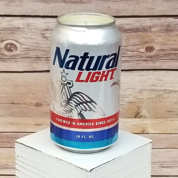 Natural Light Beer Candle
