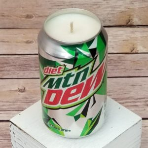 Diet Mountain Dew Soy Candle