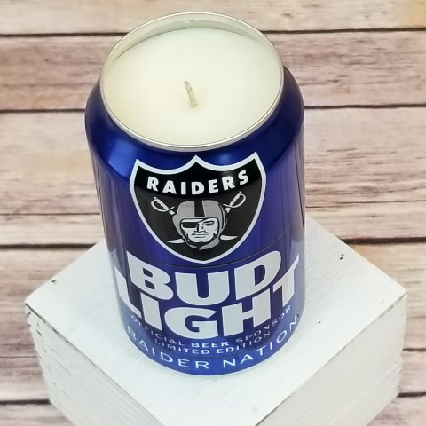 Oakland Raiders Candle