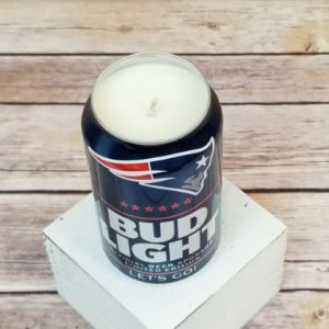 Bud Light New England Patriots Candle