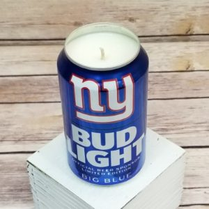 Bud Light New York Giants Candle